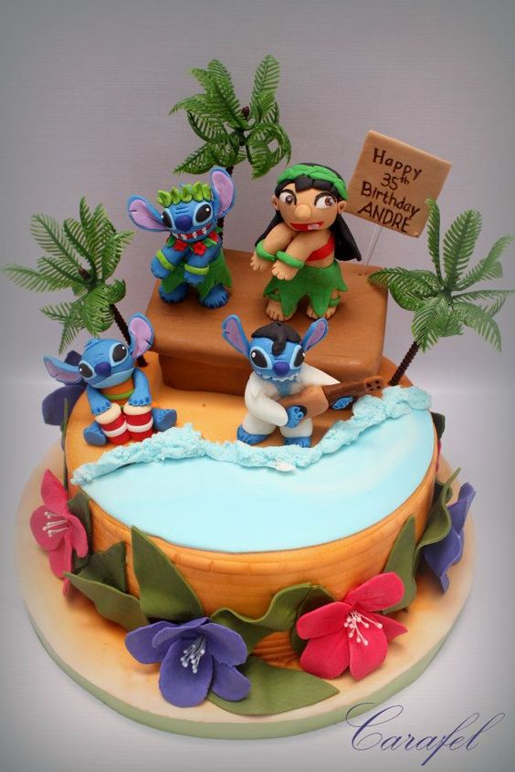 pasteles para una fiesta lilo y stich