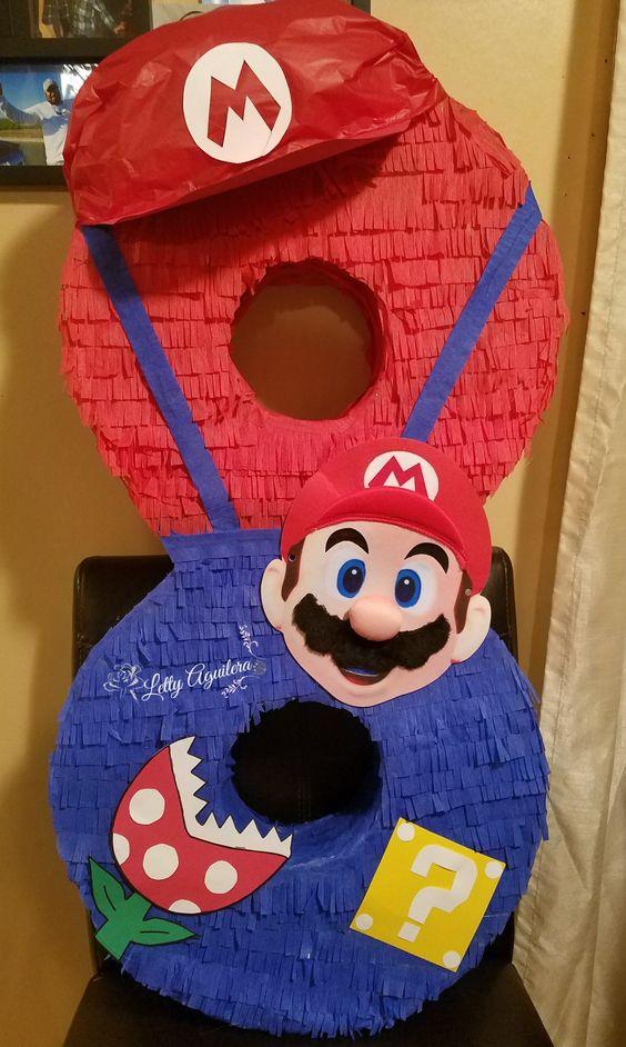 piñatas para cumpleaños de mario bros baby