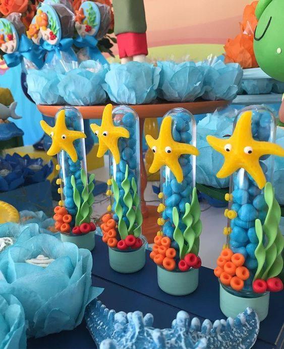 Postres para fiesta temática del mar