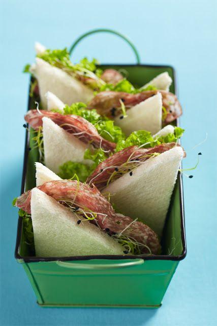 sandwich pequeños para fiestas