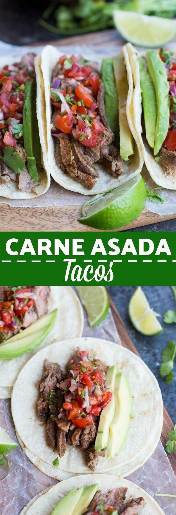 tacos de asada para fiestas mexicanas