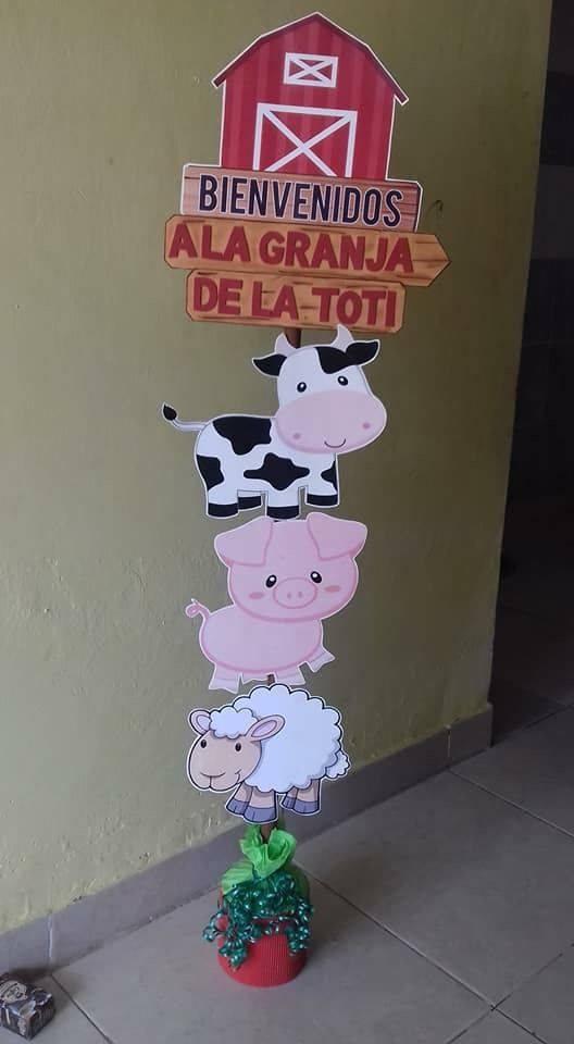 Accesorios personalizados fiesta de la granja