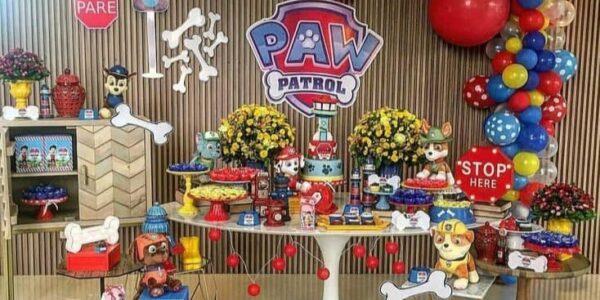 Backdrops para fiesta con tema de paw patrol
