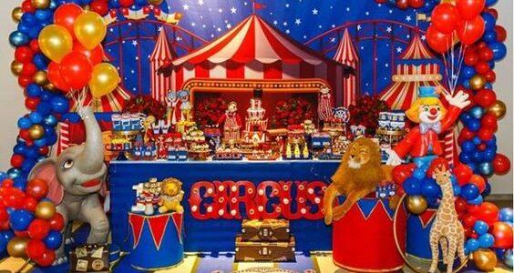 Backdrops para fiesta con temática de circo