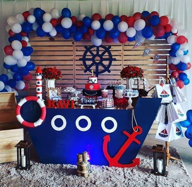 Backdrops para fiesta de marineros
