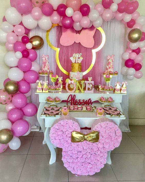 Backdrops para fiesta de minnie mouse