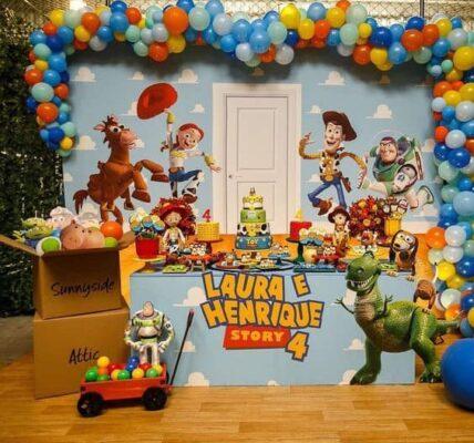 Backdrops para fiesta de toy story