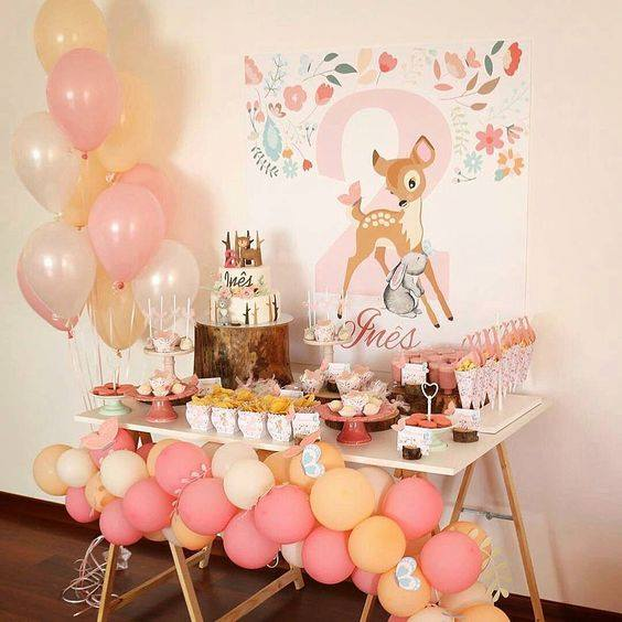 Backdrops para fiesta temática de bambi