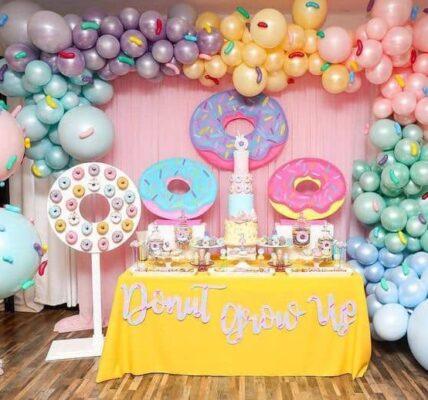 Backdrops para fiesta temática de donas