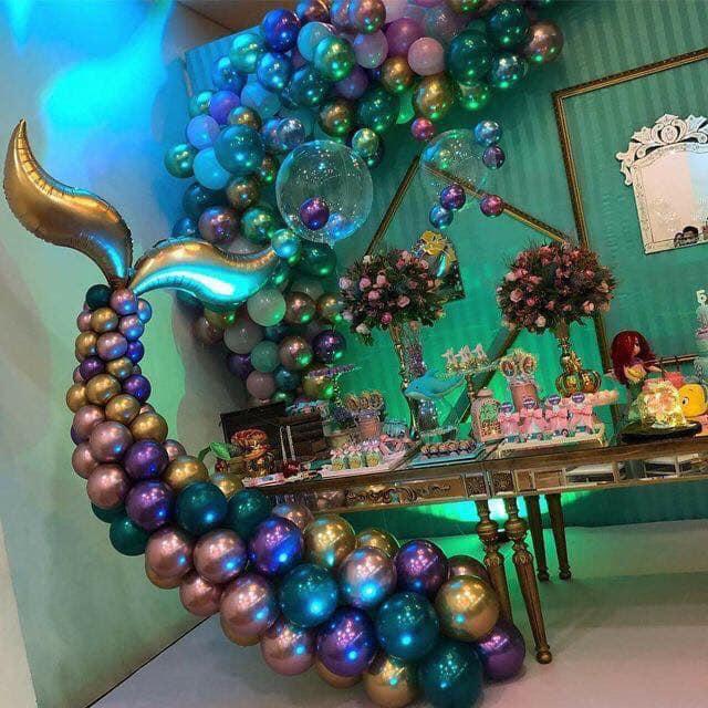 Backdrops para fiesta temática de sirenita