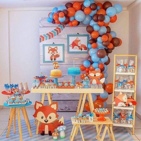Backdrops para fiesta temática de zorro
