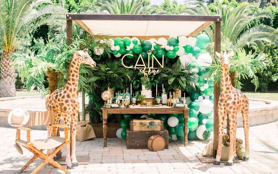 Backdrops para fiesta temática safari