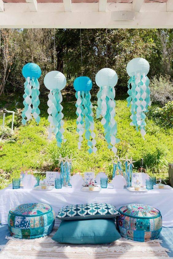 Centros de mesa fiesta temática del mar