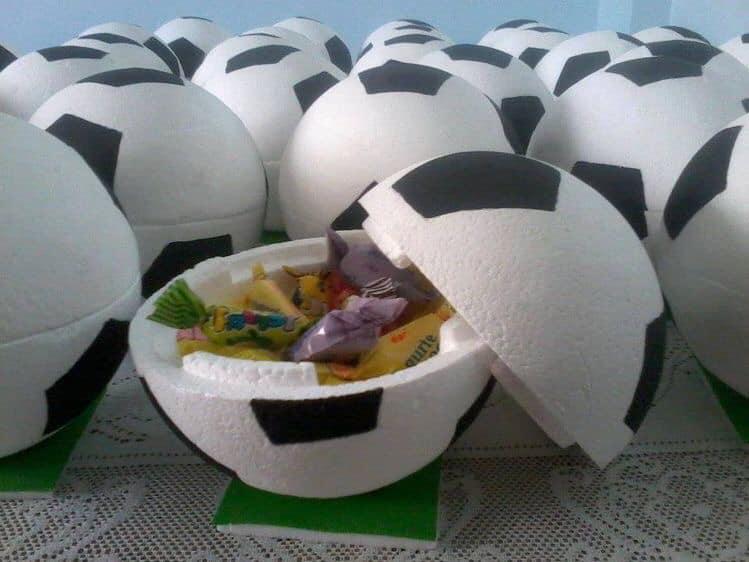 Centros de mesa para fiesta de futbol