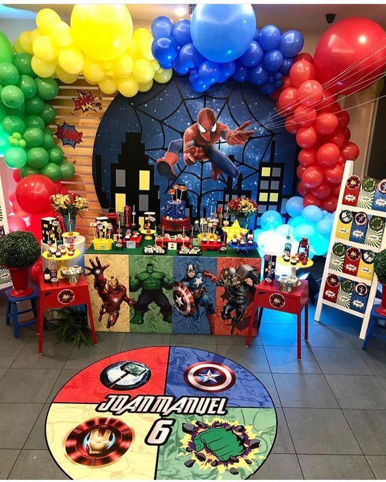 como decorar una fiesta de nueve años de niños