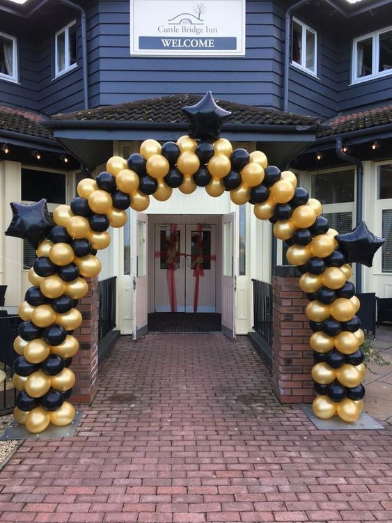 Decoracion con globos fiesta de 50 años