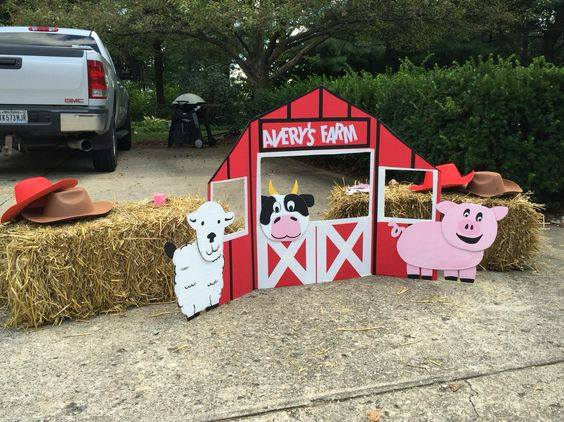 Decoracion de fiesta de la granja