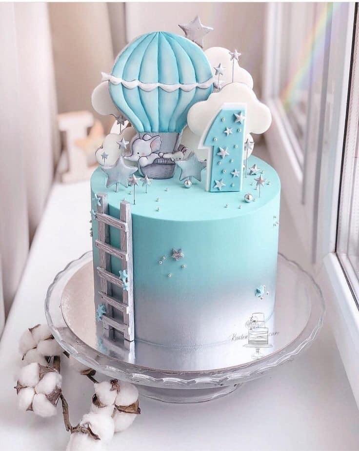 Decoracion de pasteles con globos