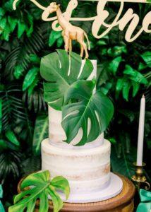Diseño de pastel fiesta safari