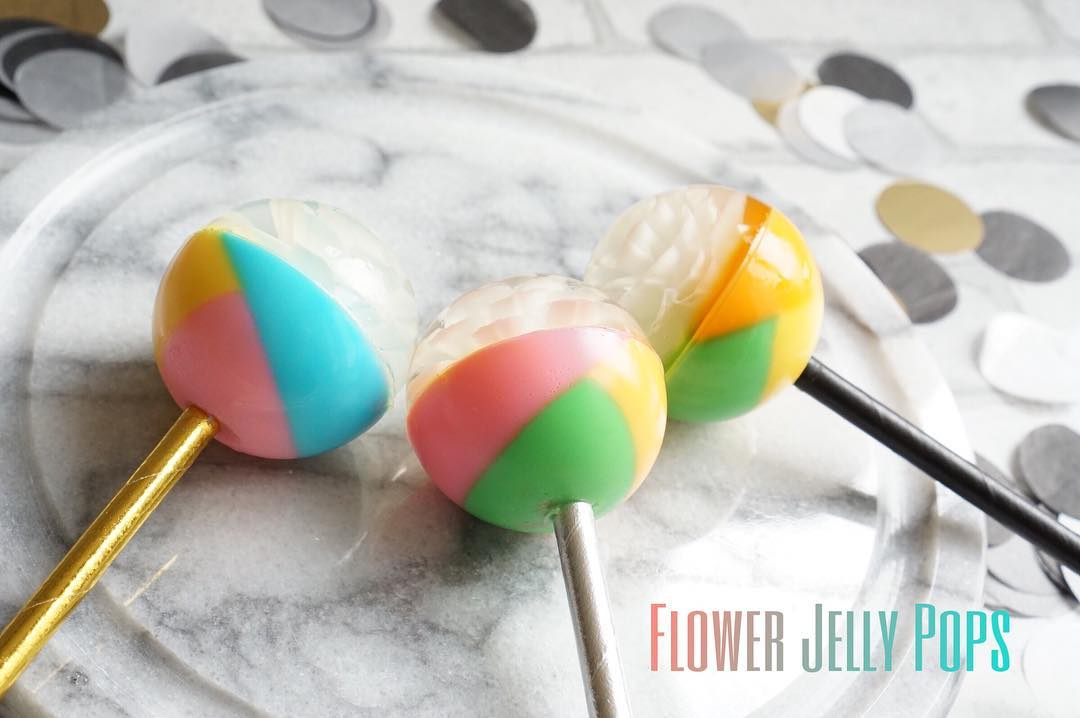 Diseños para decorar las flower jelly pops