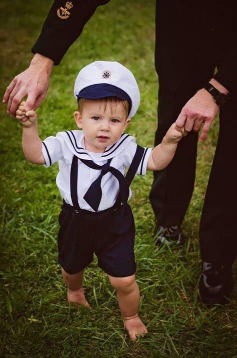 Disfraz para niño tema de marinero