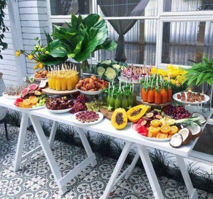 Ideas de mesa de frutas modernas