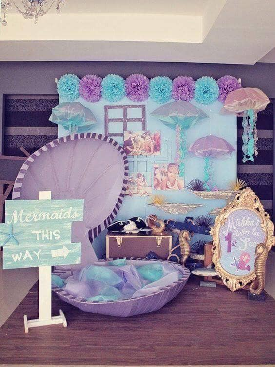 Ideas para decorar fiesta de sirenita