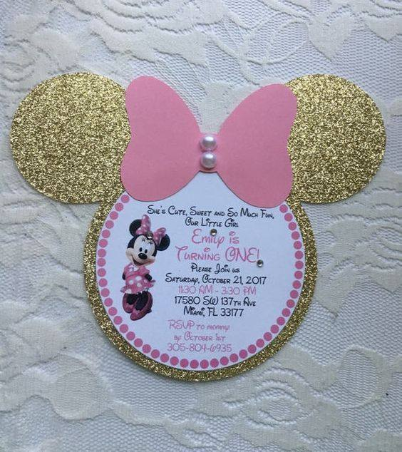 Invitaciones para fiesta de minnie mouse