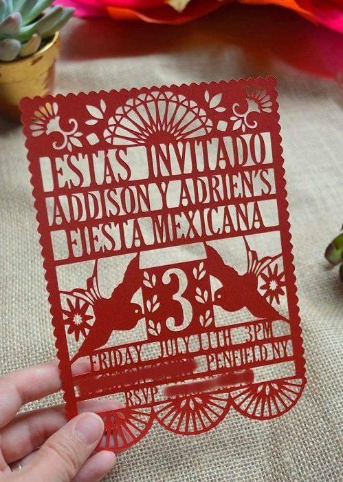Invitaciones para fiesta mexicana
