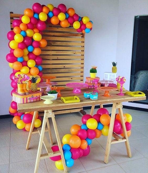 Para quienes amamos los colores alegres decoracion para fiestas