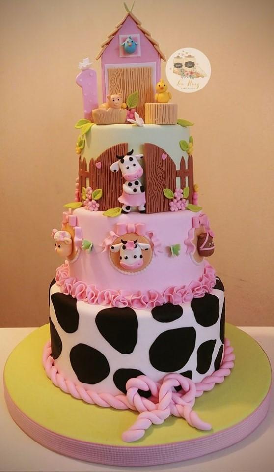 Pastel para fiesta de la granja