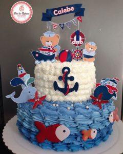 Pastel para fiesta temática de marinero