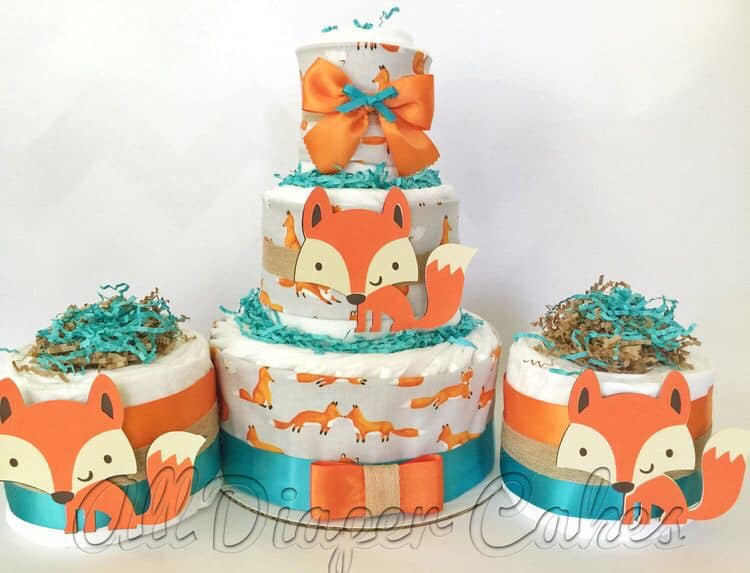 Pasteles fiesta temática de zorros