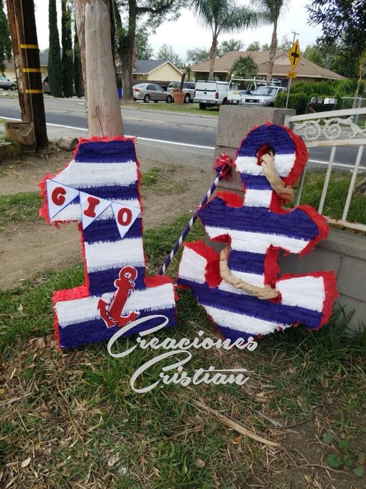 Piñata para fiesta infantil de marinero