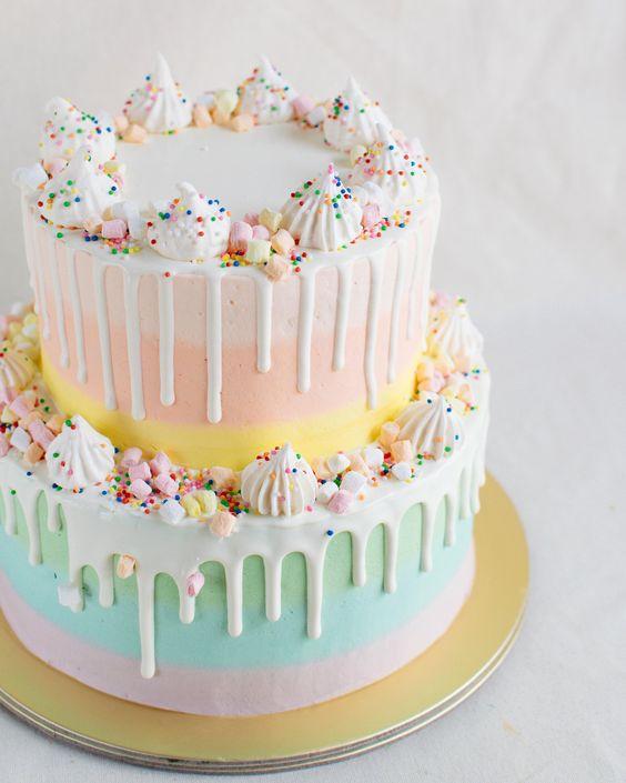 Pastel para una fiesta de confeti
