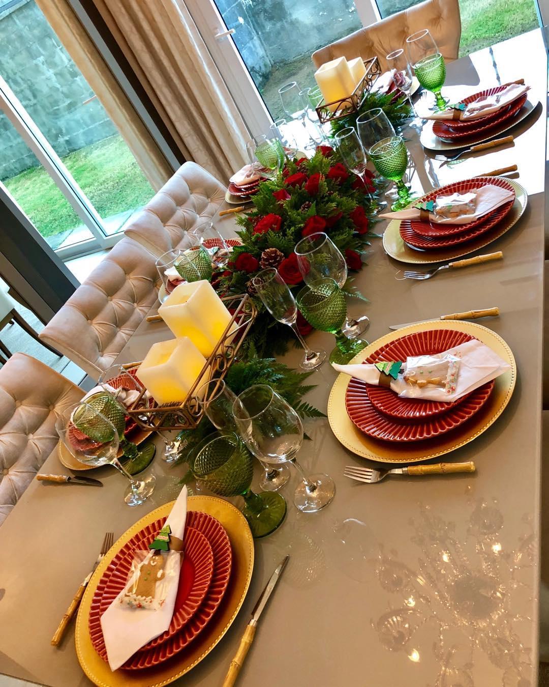 decora el comedor para la fiesta de navidad