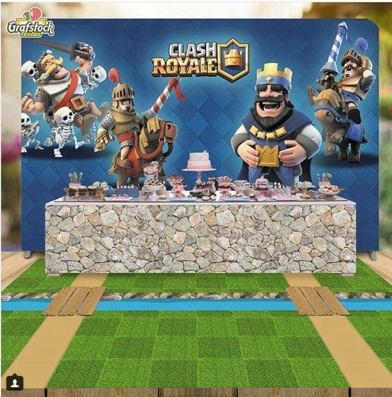 backdrops para fiesta de clash royale