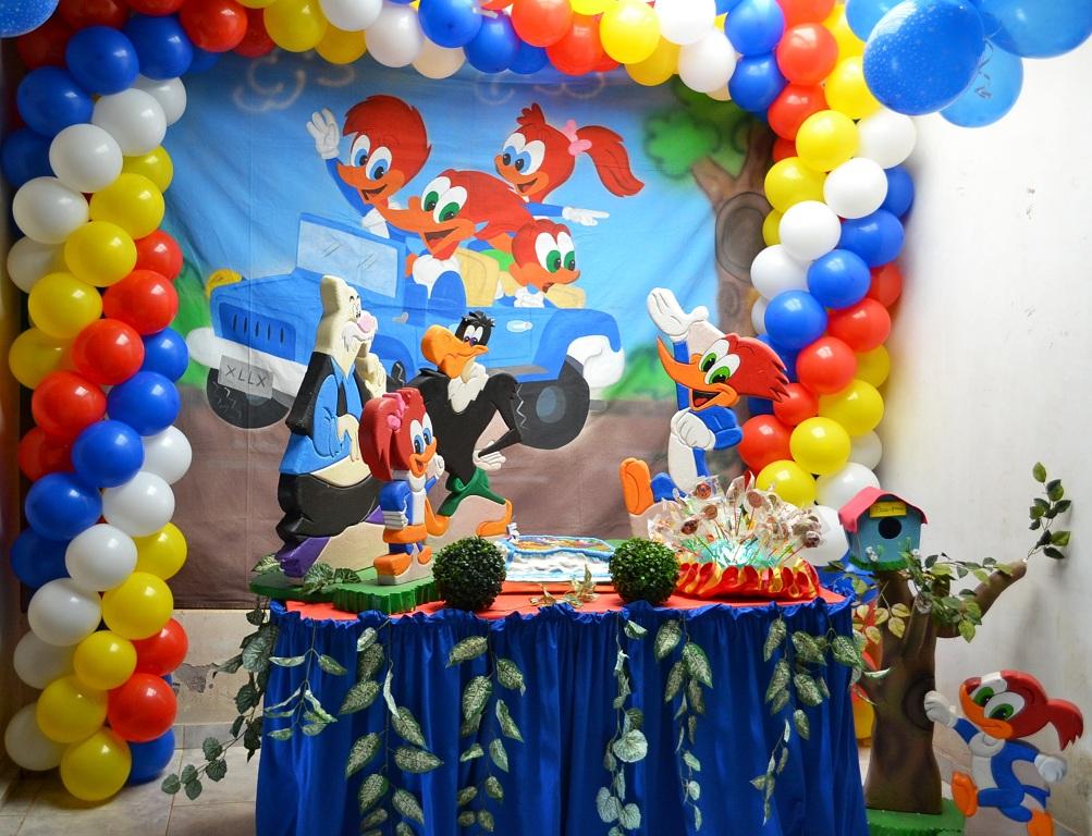 backdrops para fiesta de pajaro loco