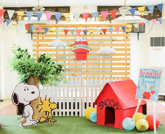 backdrops para fiesta de snoopy