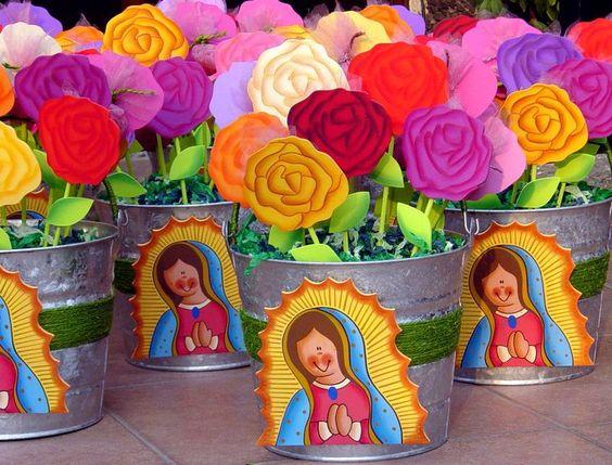 centros de mesa para cumpleaños de la virgen de guadalupe