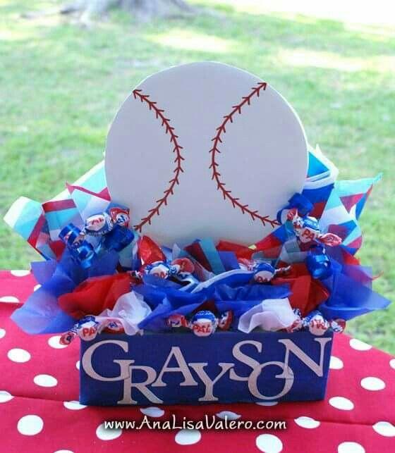 centros de mesa para un cumpleaños de beisbol