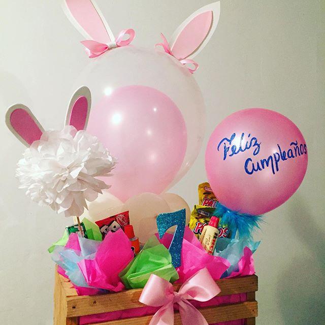 centros de mesa para un cumpleaños de conejos