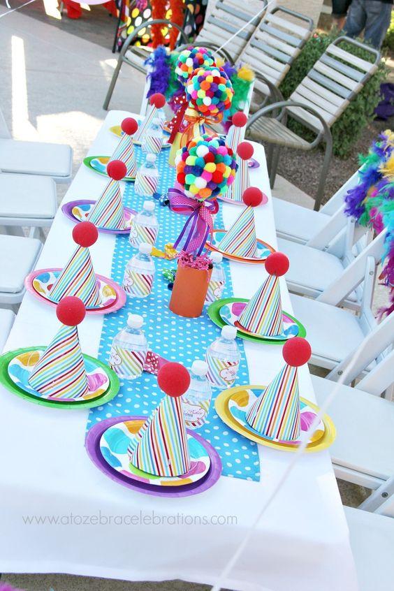 centros de mesa para un cumpleaños de confeti
