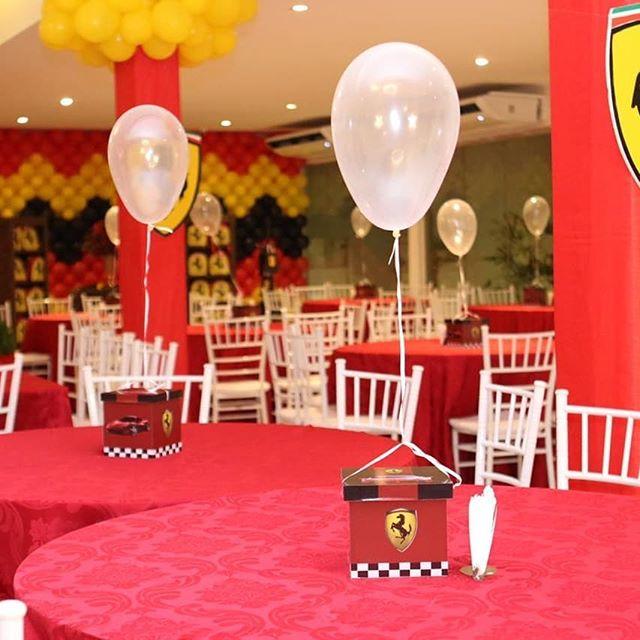 centros de mesa para un cumpleaños de formula 1