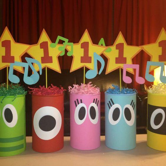 centros de mesa para un cumpleaños de gemelos