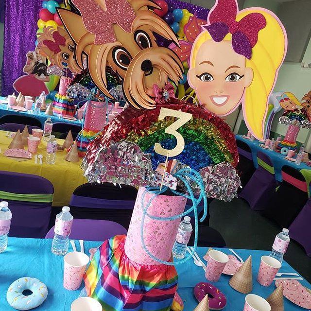 centros de mesa para un cumpleaños de jojo siwa