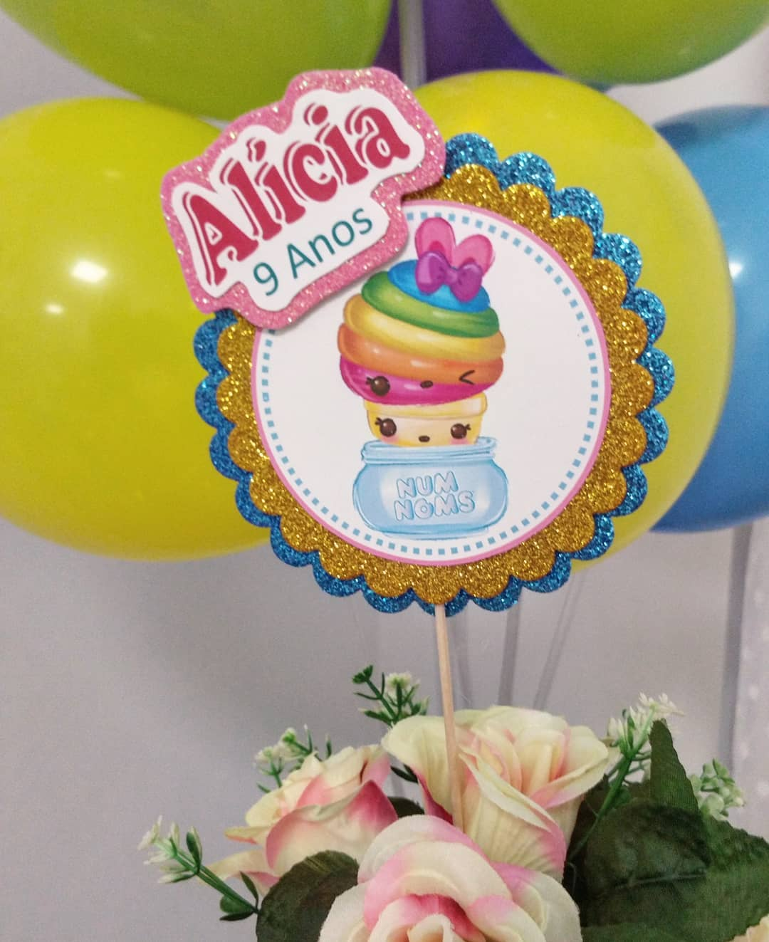centros de mesa para un cumpleaños de num noms para niña