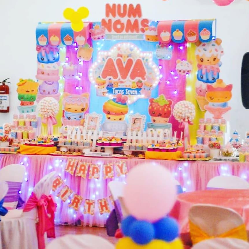 Ideas para decorar una Fiesta de num noms para niñas