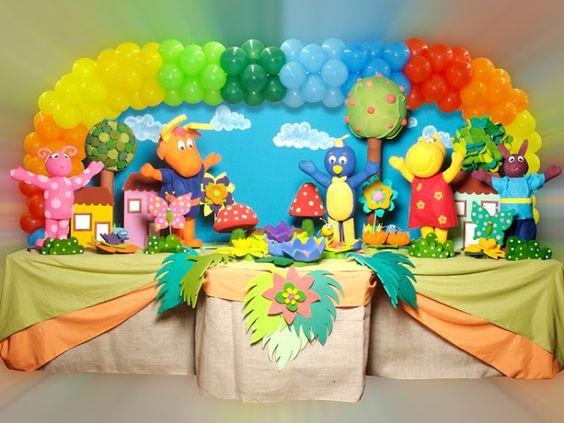 decoracion con globos para cumpleaños de backyardigans