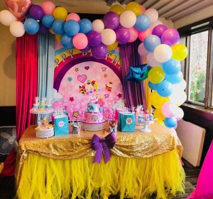 decoracion con globos para cumpleaños de jojo siwa